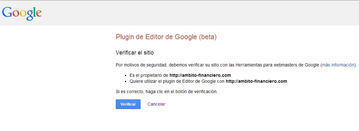 verificacion google publisher plugin